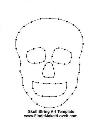 Skull String Art Template