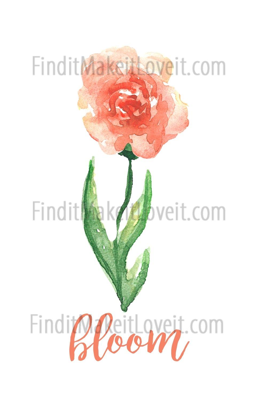 Bloom 4x6 printable