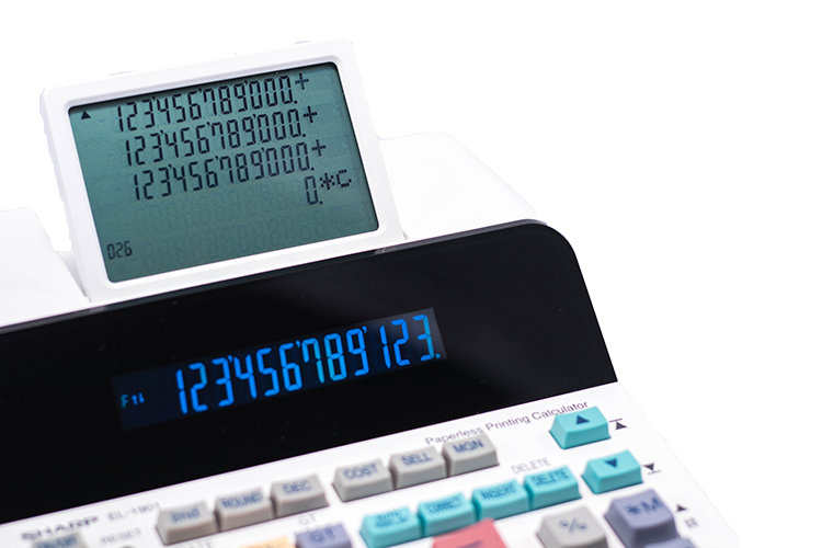 EL-1901 12 Digit Paperless Printing Calculator