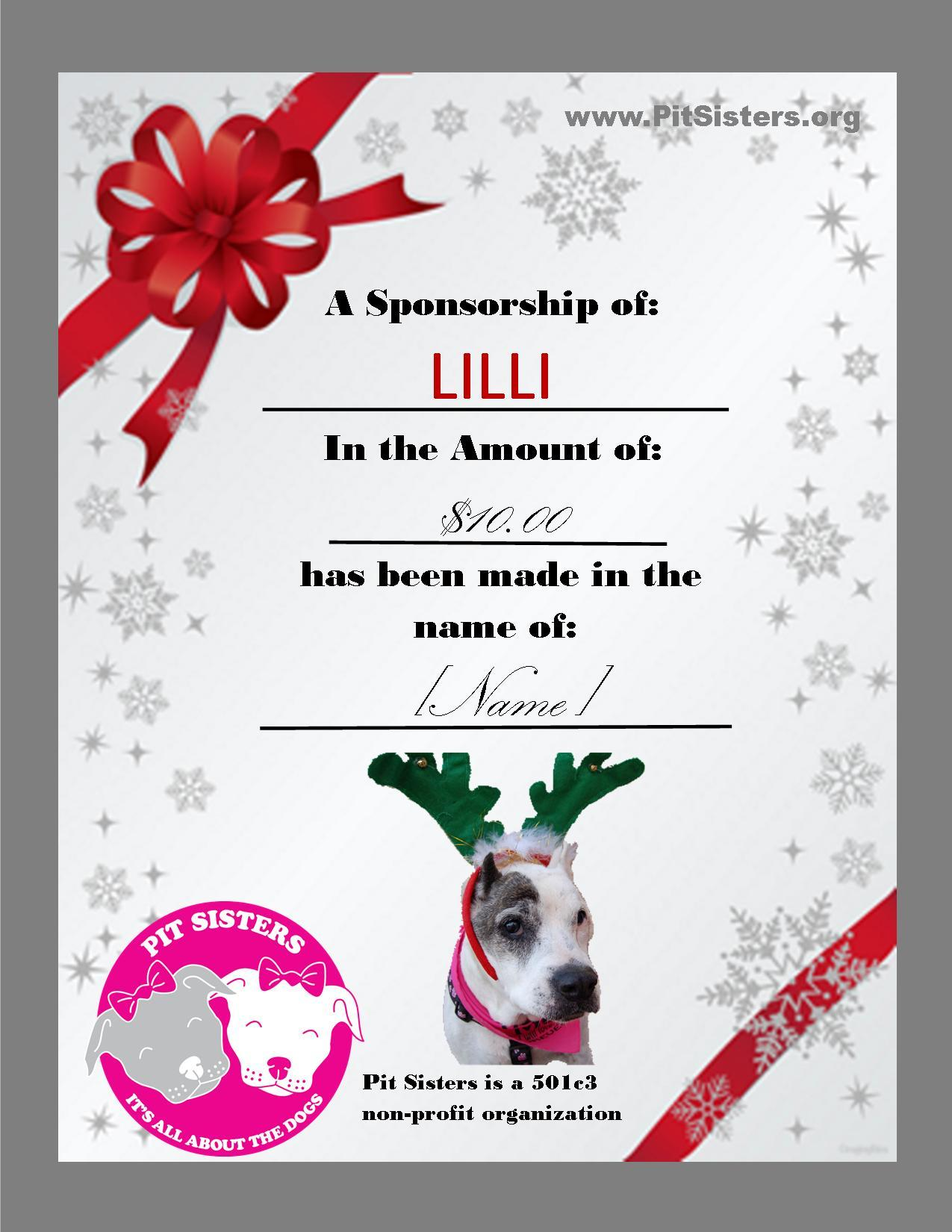 Dog Sponsorship Gift
