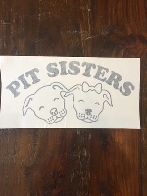 Car Decal - Pit Sisters - Black