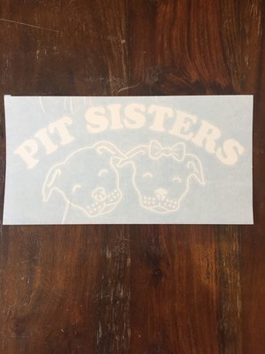Car Decal - Pit Sisters - White