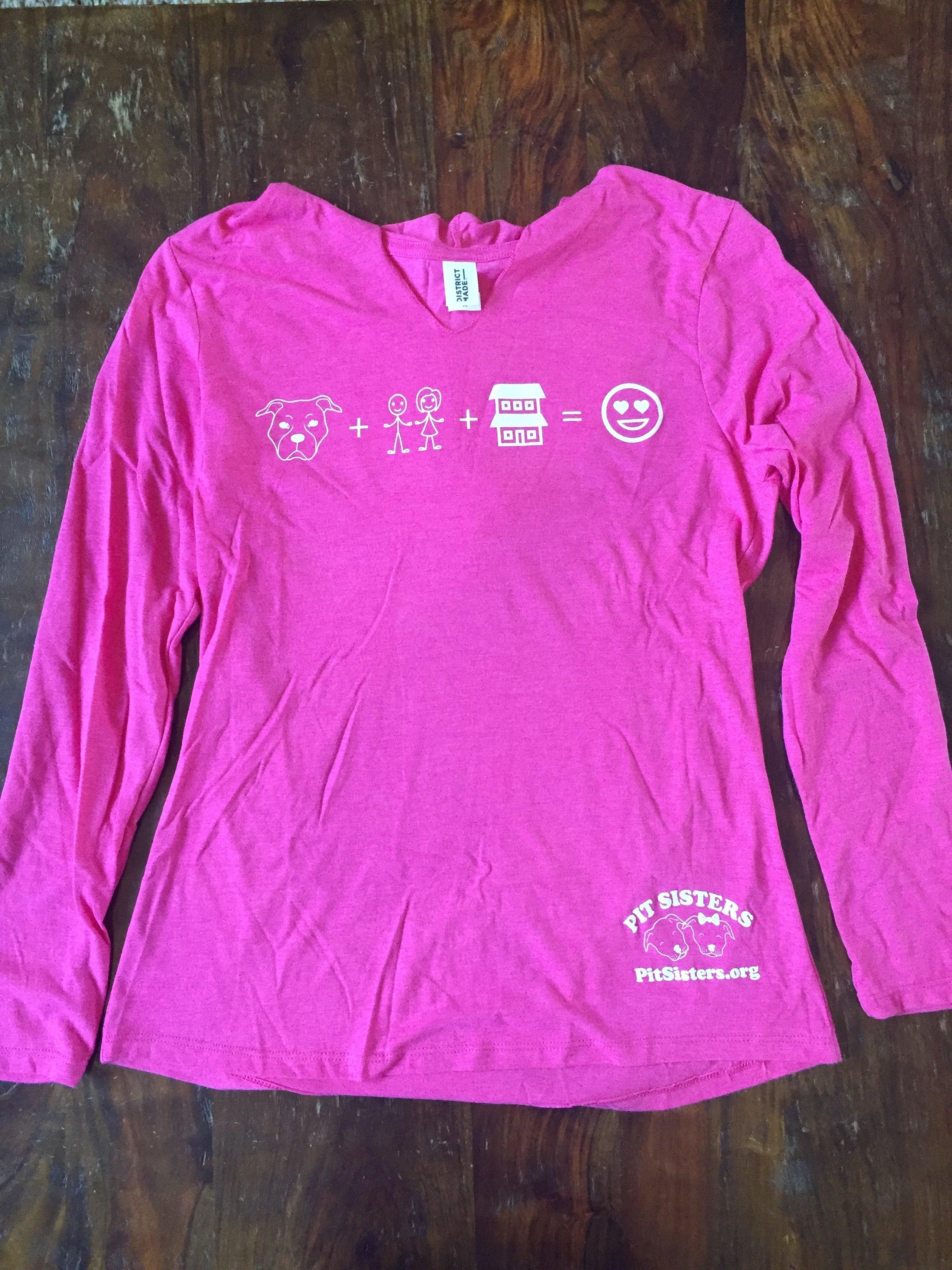 Ladies Pink, V-neck, Long sleeved, Emoji Hoodie - Medium 55606