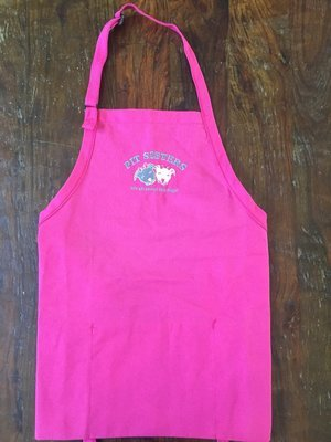 Pit Sisters Embroidered Pink Apron