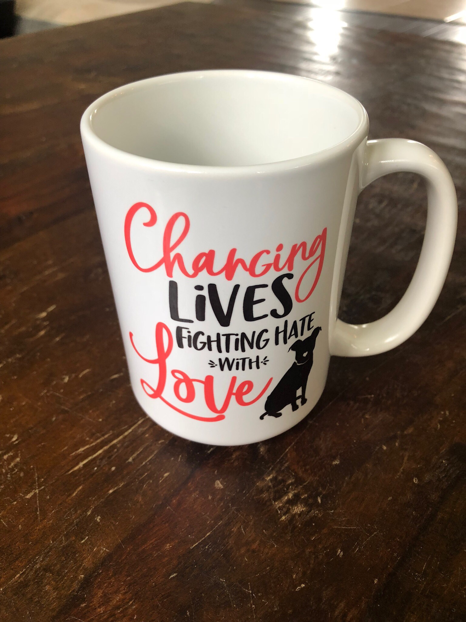Changing Lives, Fighting Hate With Love - 15 oz. mug (All proceeds benefit our TAILS program)  55668