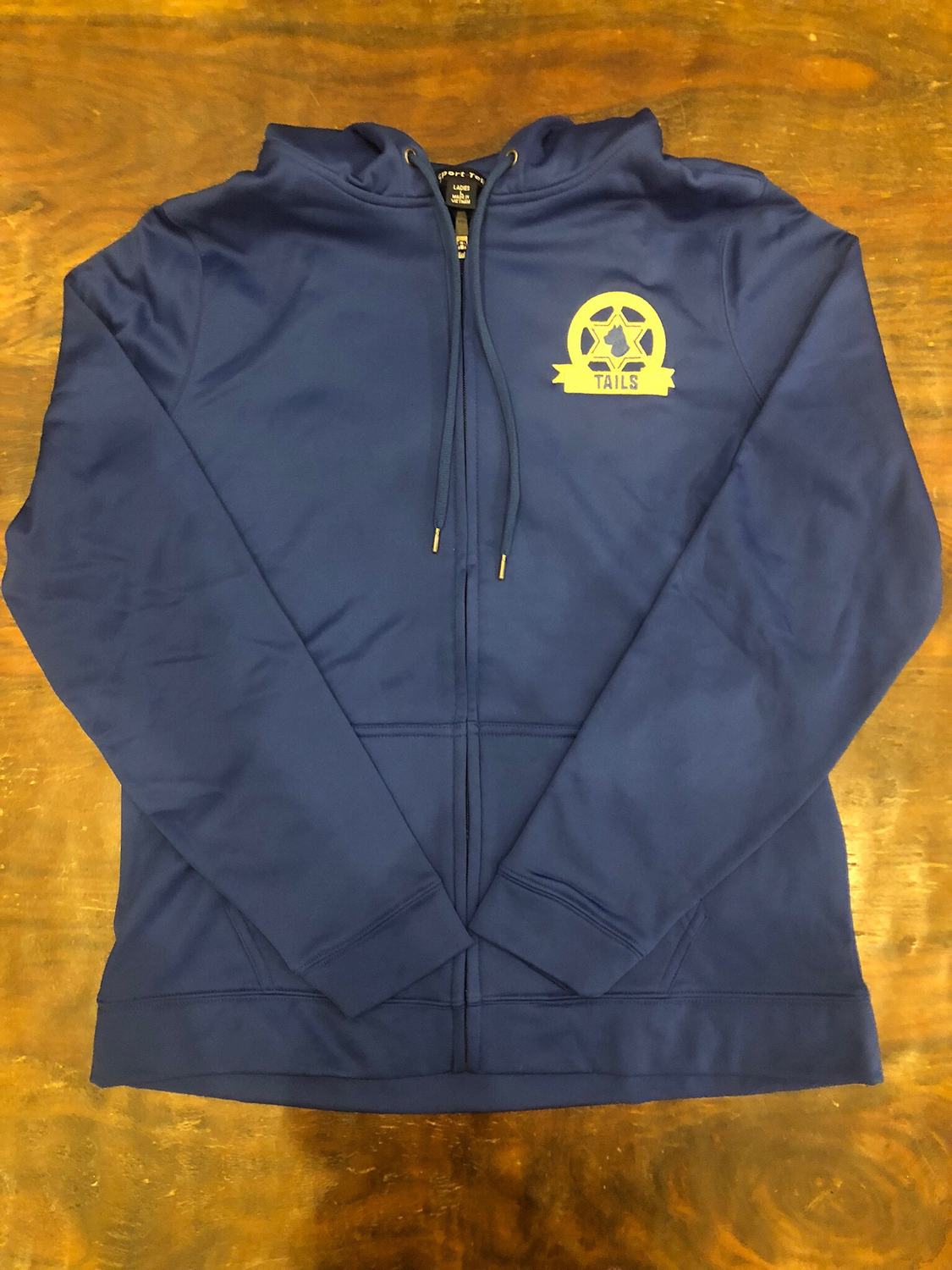 Blue TAILS hooded, zip front jacket - XL