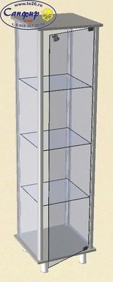 Витрина стеклянная с алюминиевым профилем ВСА 45х45 см.