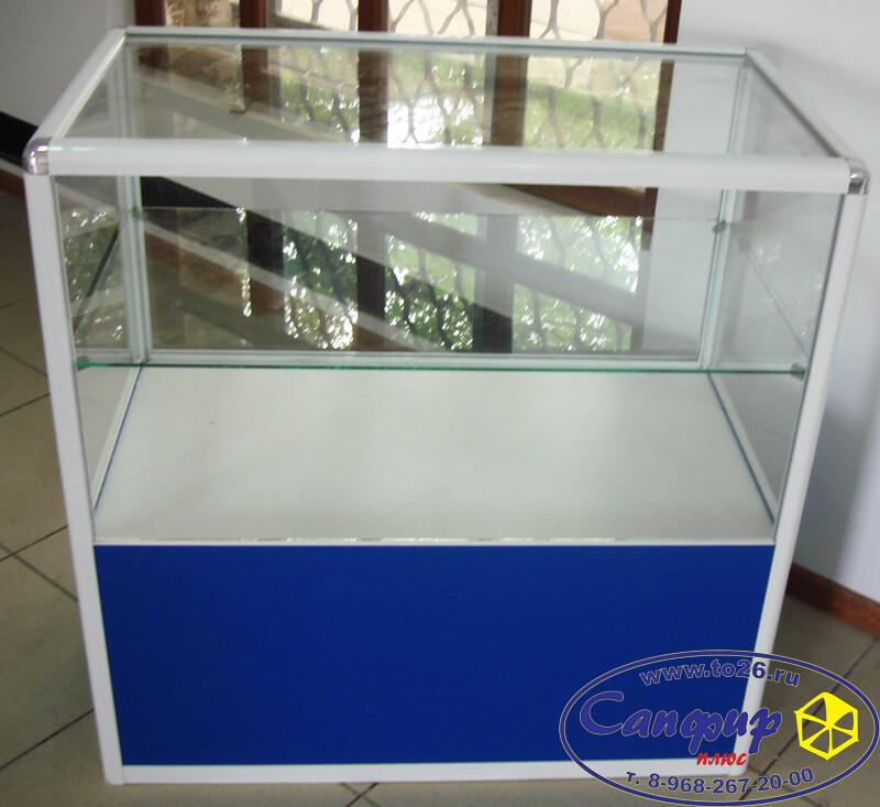 торговый прилавок из алюминиевого профиля и стекла