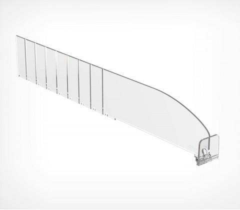 Пластиковый обламывающийся разделитель высотой 60 мм c передним ограничителем 30 мм