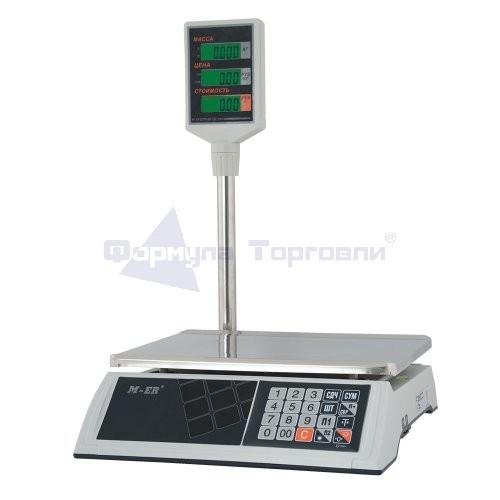 Весы торговые M-ER 327P-15.2 BAZAR с АКБ со стойкой LCD