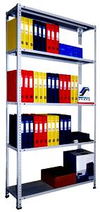 Стеллаж архивный складской металлический для офиса, мастерской 1м.