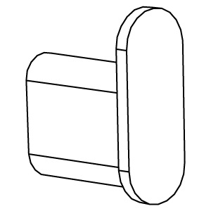 Заглушка для овальной трубы