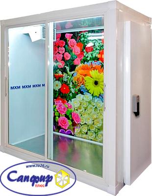 Холодильная камера для продажи цветов без агрегата