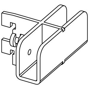 Держатель прямоугольной трубы 302MD6