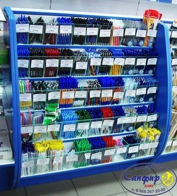 Прилавок для ручек 55 ячеек магазин канцтовары