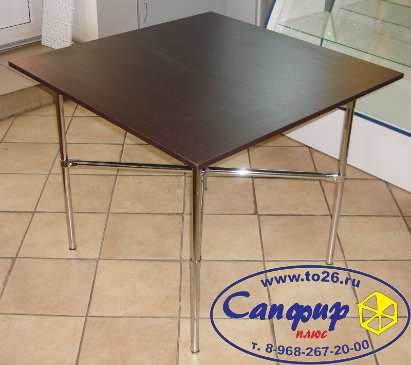 Стол обеденный складной 90х90х75 см.