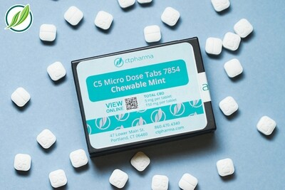 C5 Micro Dose Tabs 7854 (5 mg CBD x 30 Chewable Mint Tablets)(CPS)