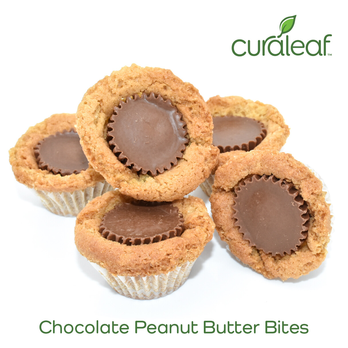 Chocolate Peanut Butter Bites 7997 (5 Bites x 19.2 mg THC Indica)(CL)