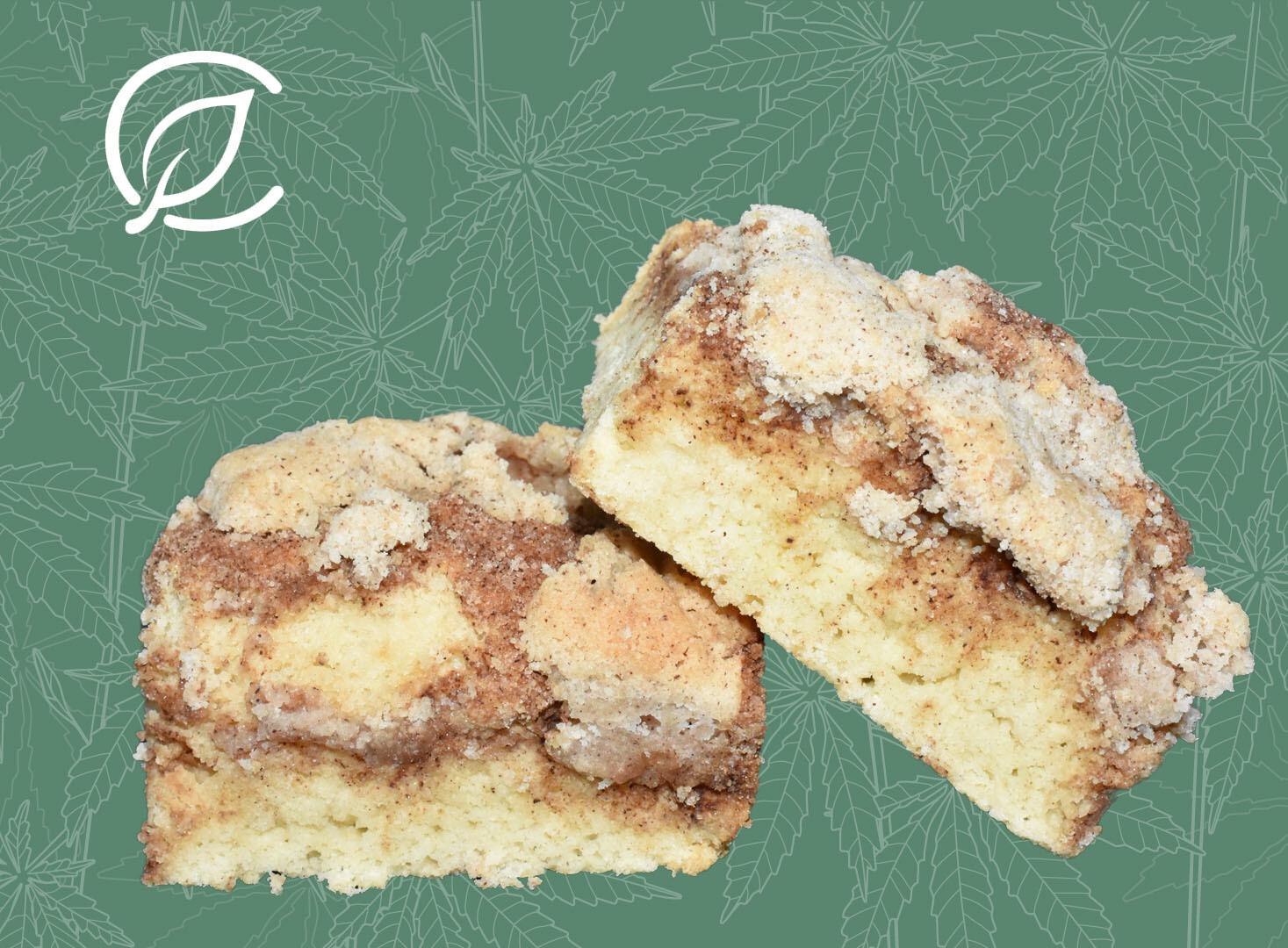 Coffee Cake Bars 8584 (46.48 mg Hybrid THC x 2 Bars)(CL)