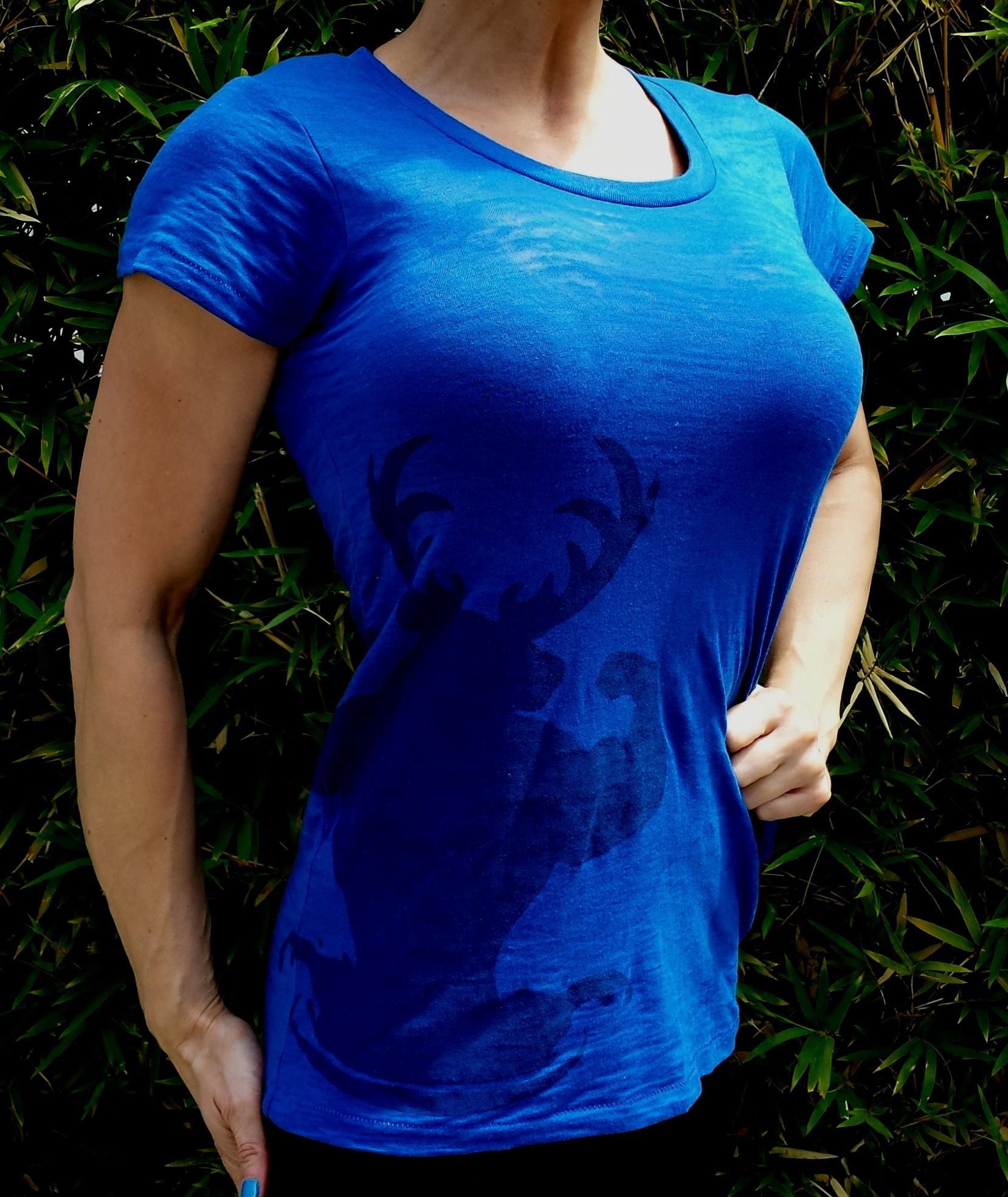 Perfect Fit Burnout Crew T-Shirt - Klein Blue 60029
