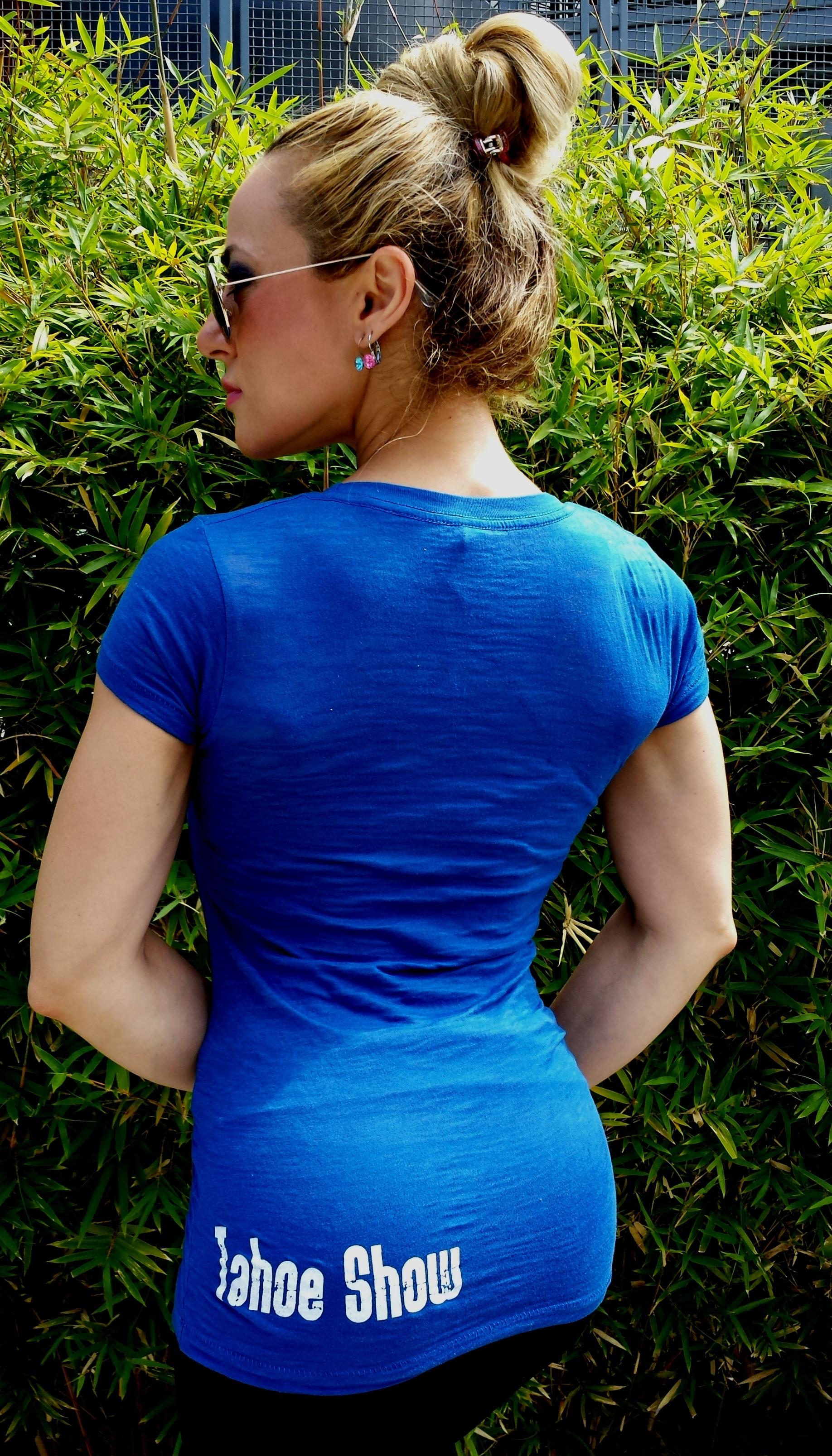 Perfect Fit Burnout Crew T-Shirt - Klein Blue
