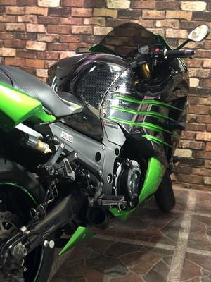 Kawasaki Ninja ZX14R NIK 2013 Pemakaian 2016 Hijau Ohlins - USED