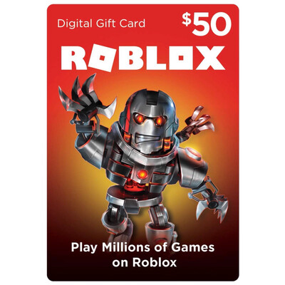 Roblox $50 Game Card 4500 Robux [Digital Code]