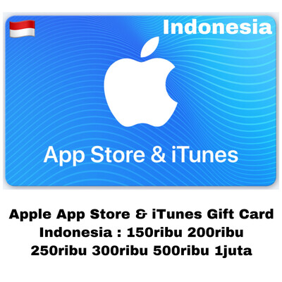 Apple App Store & iTunes Gift Card Indonesia 150000 200000 250000 300000 500000 1000000