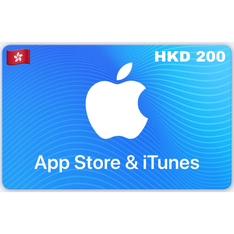 Apple App Store & iTunes Gift Card Hongkong HKD 200