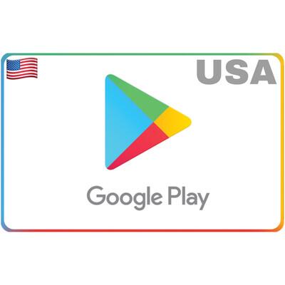 Google Play Gift Card USA $5 $10 $15 $20 $25 $50 $100