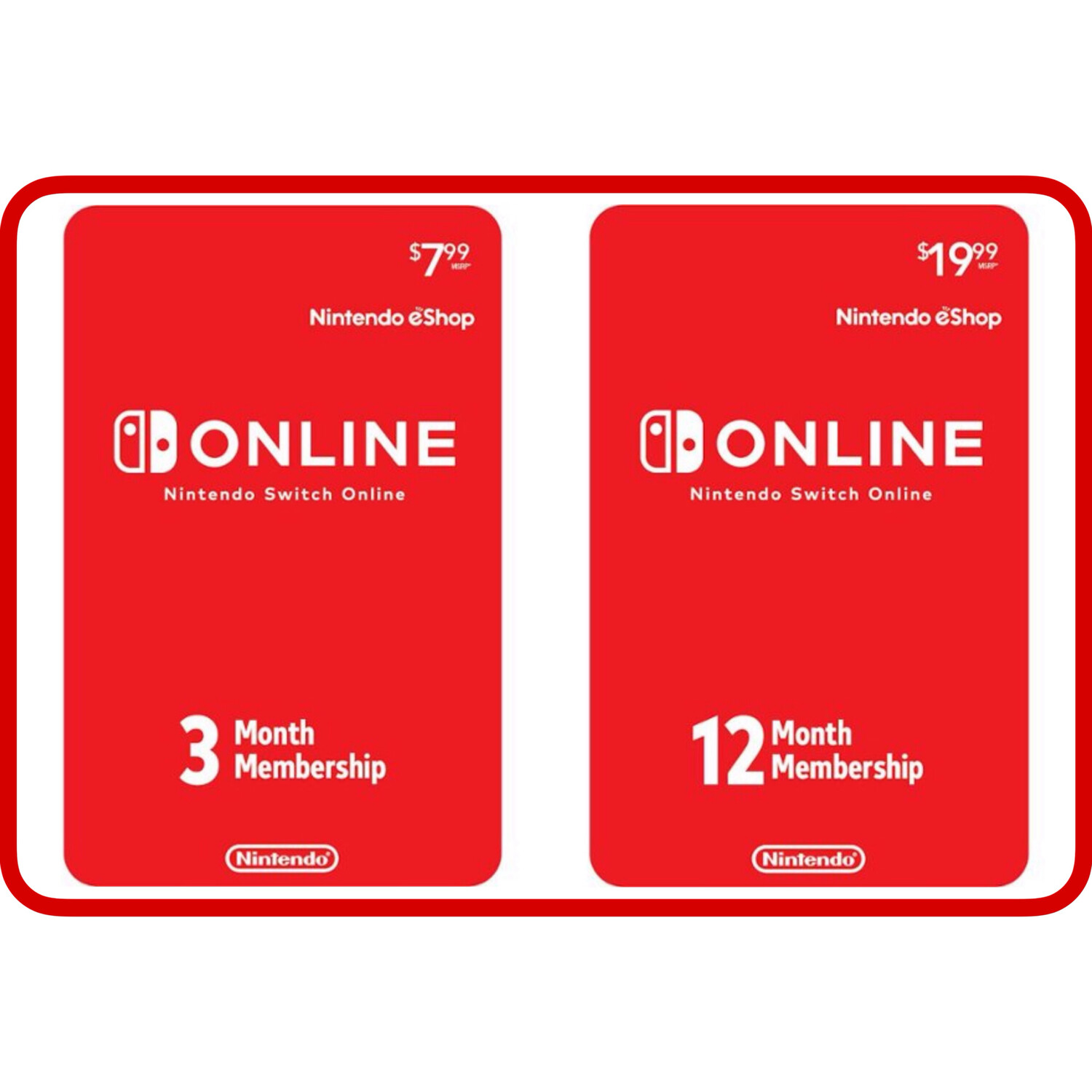 Nintendo Switch Online 3, 12 Month Individual Membership Card US