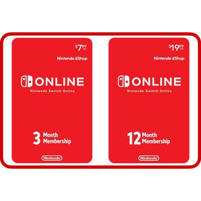 Nintendo Switch Online 3, 12 Month Individual Membership Card US