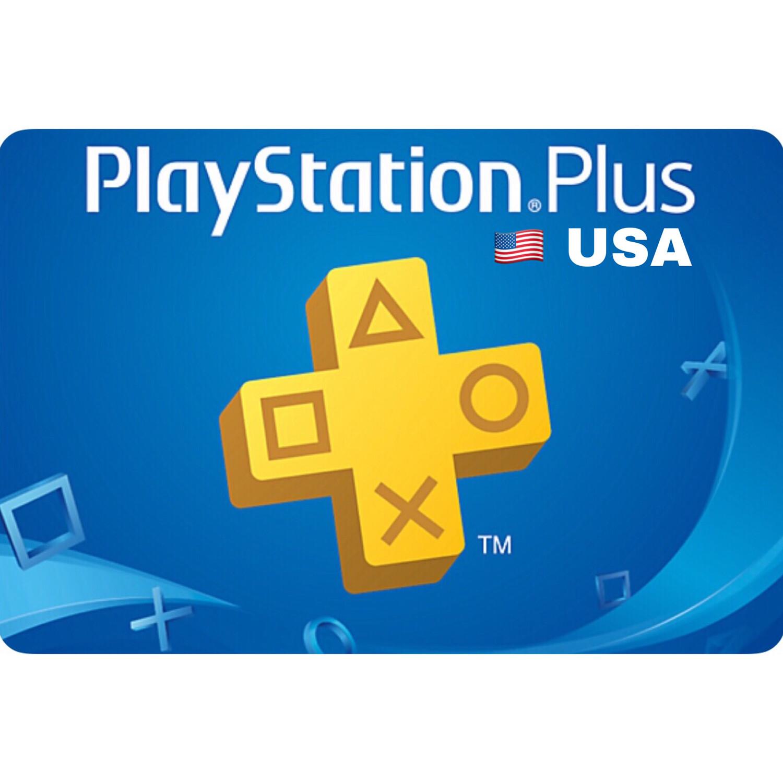 PSN Plus Cards - Playstation Plus US 1, 3, 12 Months Membership