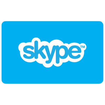Skype Credit Gift Card $10 $25 $50