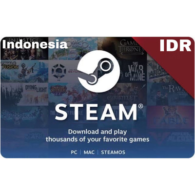 Steam Wallet IDR 45ribu 60ribu 90ribu 120ribu 250ribu 400ribu 600ribu