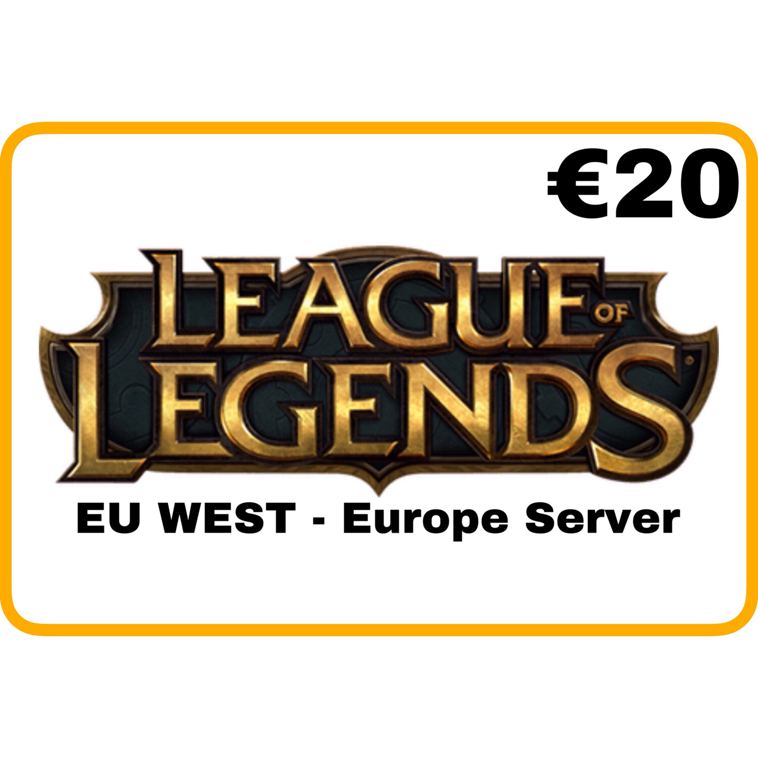 League of Legends €20 EU West Europe Server Riot Points