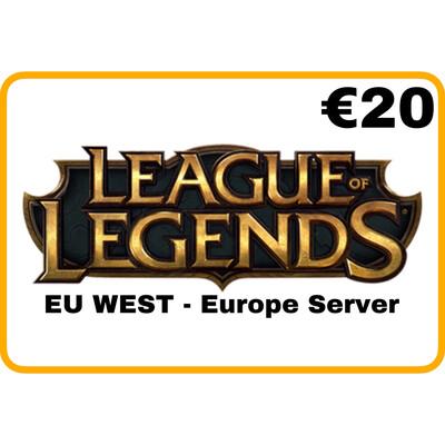 League of Legends €20 EU West Europe Server Riot Points
