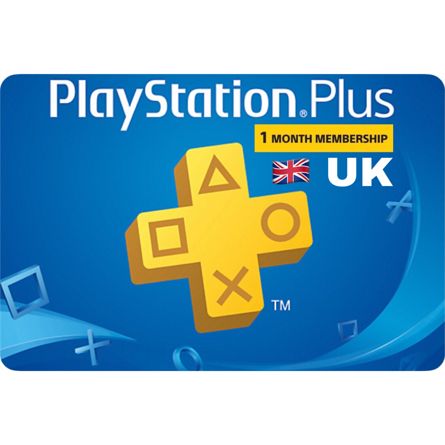 Playstation Plus (PSN Plus) UK 1 Month