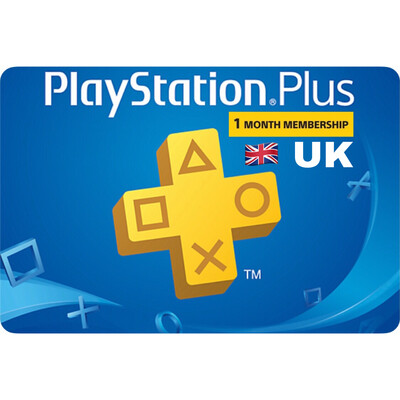 Playstation Plus (PSN Plus) UK 1 Month