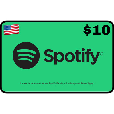 Spotify Gift Card USA $10 (1 Month Premium)