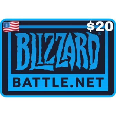 Battlenet Gift Card US $20 Blizzard Balance
