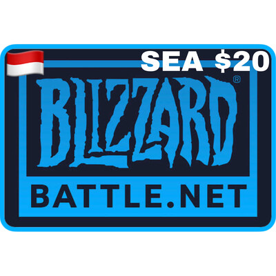 Battlenet Gift Card SEA $20 Blizzard Balance