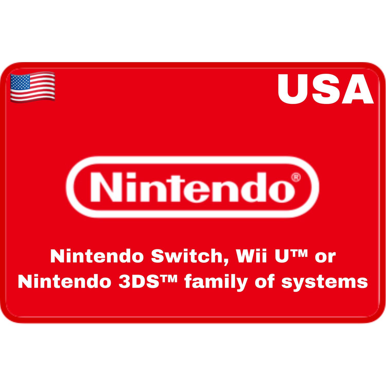 Nintendo eShop USA $5 $10 $20 $35 $50