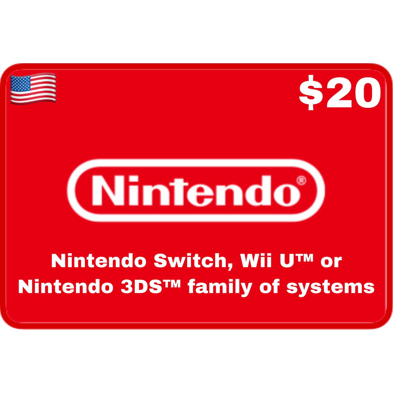 Nintendo eShop USA $20