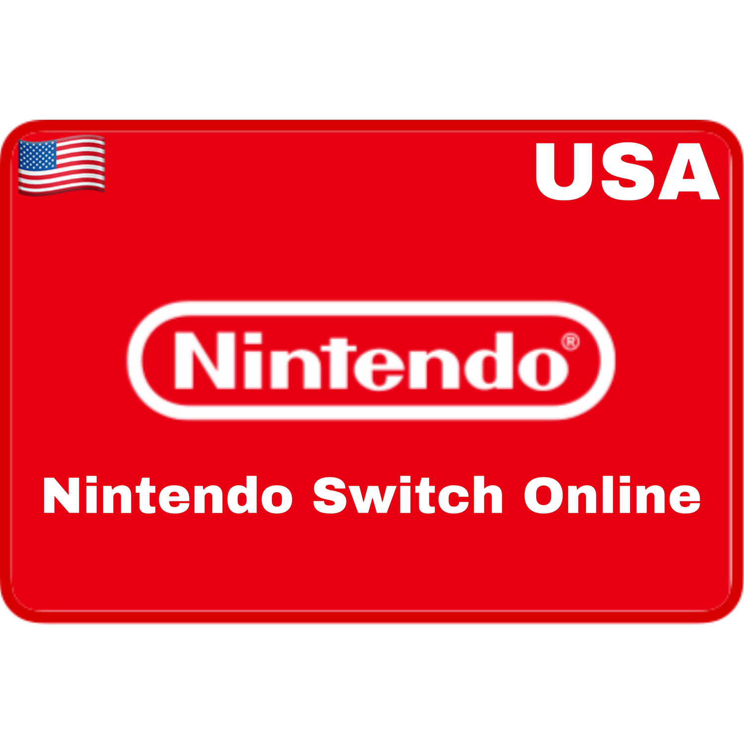 Nintendo Switch Online USA Individual/Family Membership Card