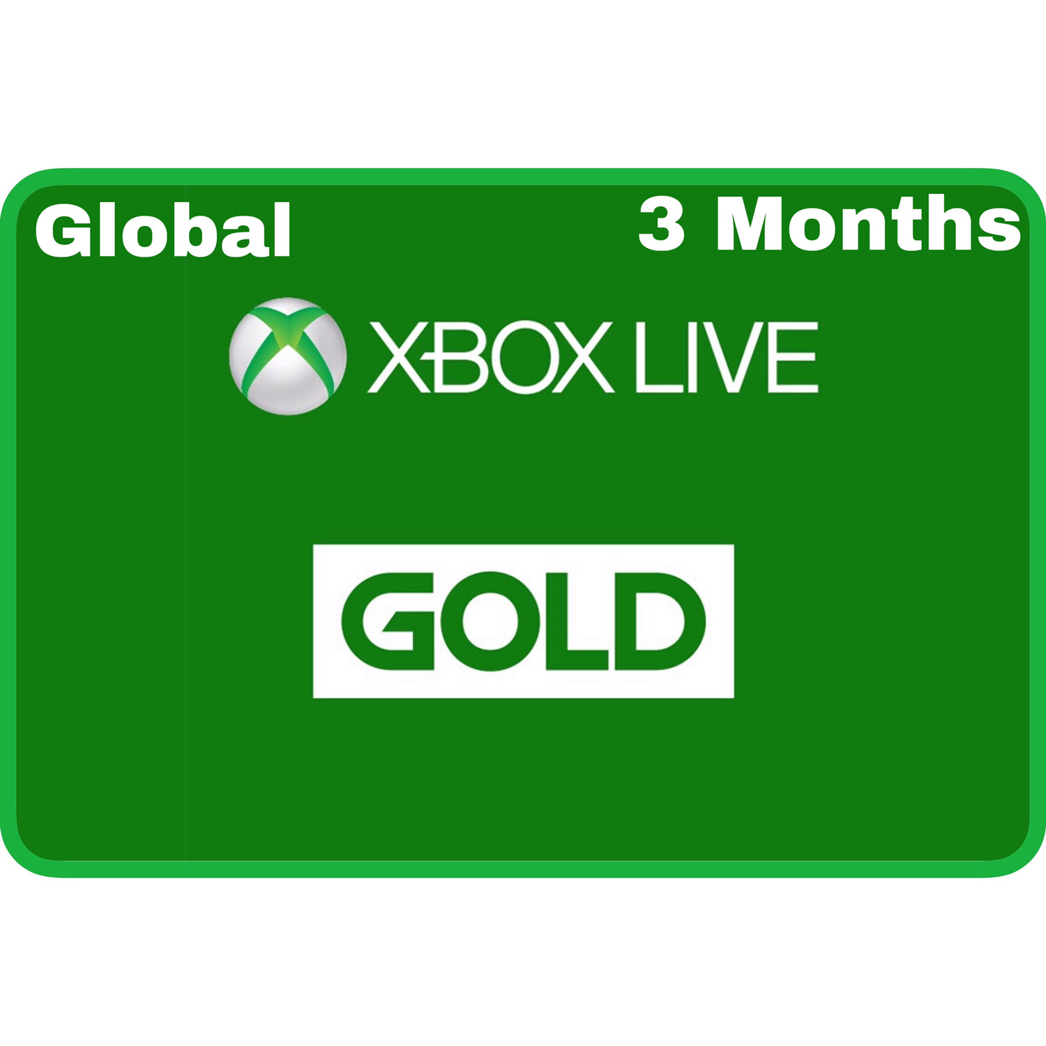 Xbox Live 3 Months Gold Card Membership (Global region)