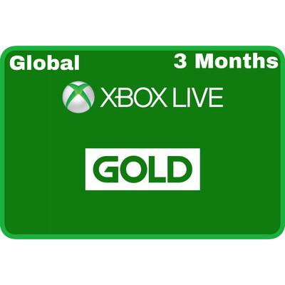 Xbox Live 3 Months Gold Card Membership (Global region)