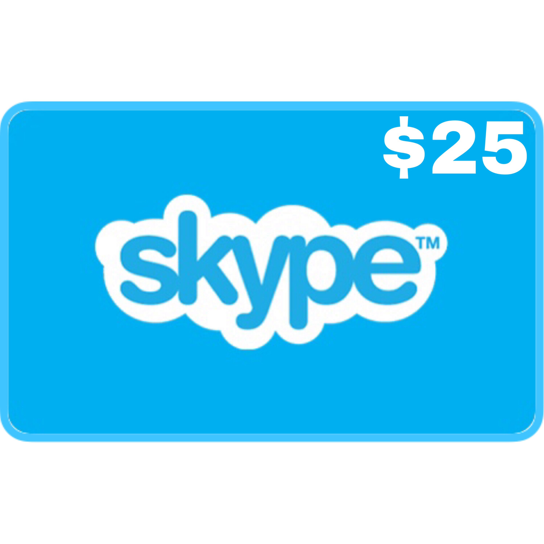 Skype Credit Gift Card $25