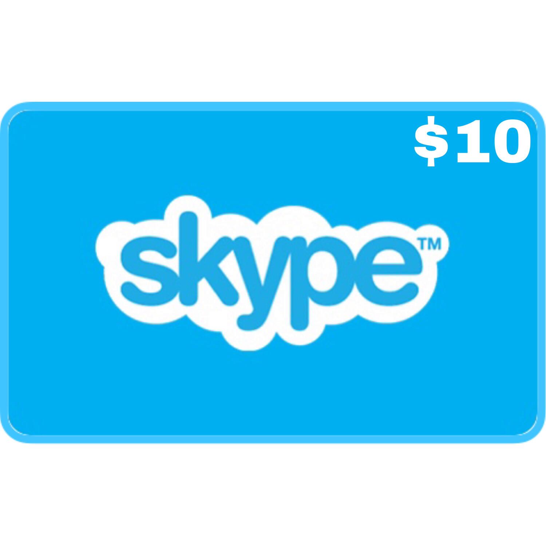 Skype Credit Gift Card $10