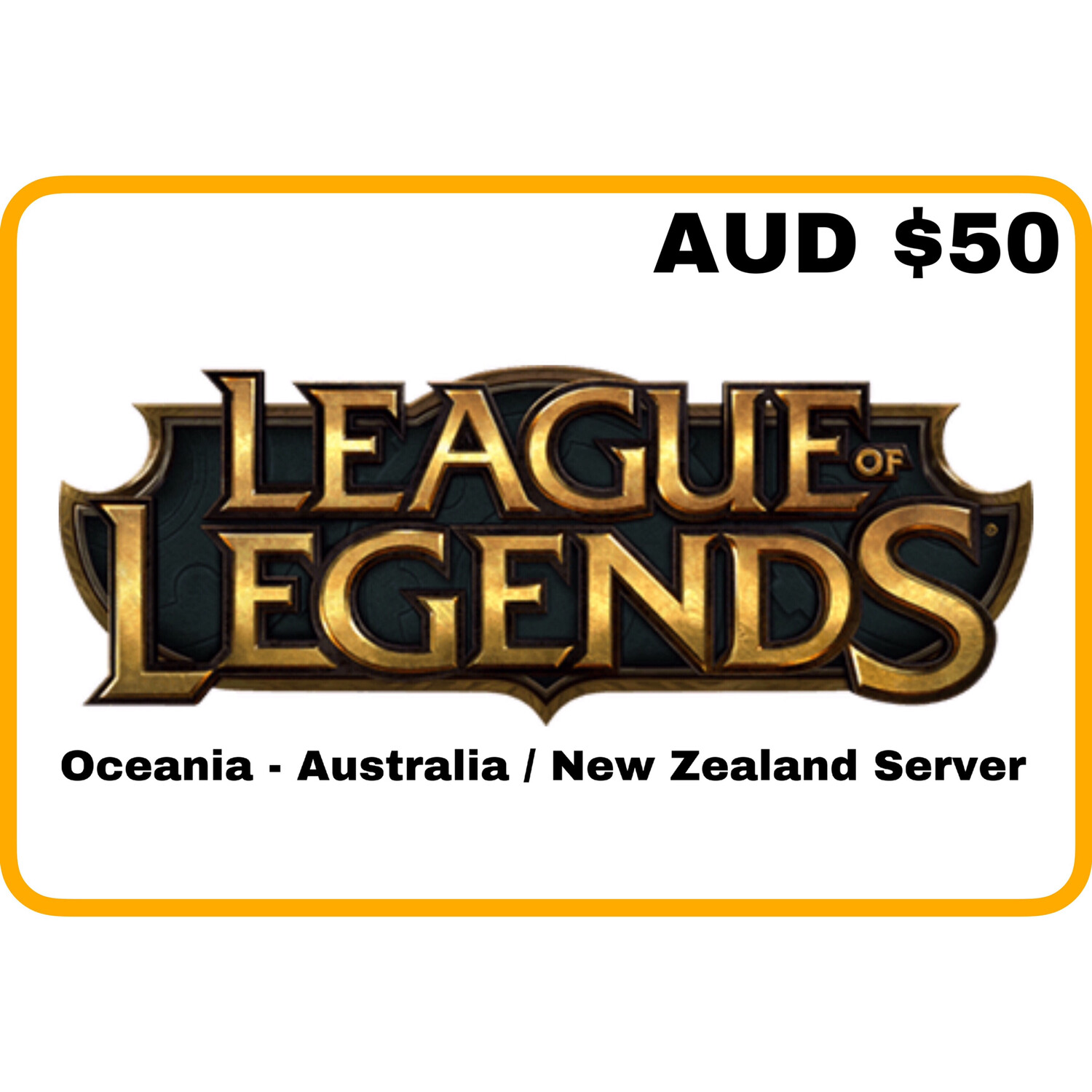 League of Legends AUD $50 Oceania Server (Australia/New Zealand) Riot Points